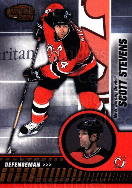 2003-04 Invincible #59 Scott Stevens<br/>6 In Stock - $1.00 each - <a href=https://centericecollectibles.foxycart.com/cart?name=2003-04%20Invincible%20%2359%20Scott%20Stevens...&quantity_max=6&price=$1.00&code=444971 class=foxycart> Buy it now! </a>