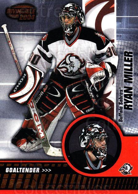 2003-04 Invincible #10 Ryan Miller<br/>1 In Stock - $1.00 each - <a href=https://centericecollectibles.foxycart.com/cart?name=2003-04%20Invincible%20%2310%20Ryan%20Miller...&quantity_max=1&price=$1.00&code=444976 class=foxycart> Buy it now! </a>