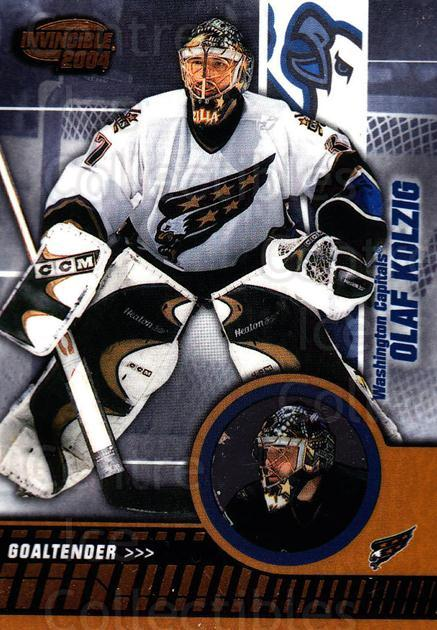 2003-04 Invincible #100 Olaf Kolzig<br/>4 In Stock - $1.00 each - <a href=https://centericecollectibles.foxycart.com/cart?name=2003-04%20Invincible%20%23100%20Olaf%20Kolzig...&quantity_max=4&price=$1.00&code=444977 class=foxycart> Buy it now! </a>