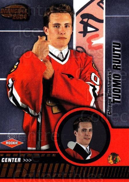 2003-04 Invincible #106 Tuomo Ruutu<br/>2 In Stock - $3.00 each - <a href=https://centericecollectibles.foxycart.com/cart?name=2003-04%20Invincible%20%23106%20Tuomo%20Ruutu...&quantity_max=2&price=$3.00&code=444983 class=foxycart> Buy it now! </a>
