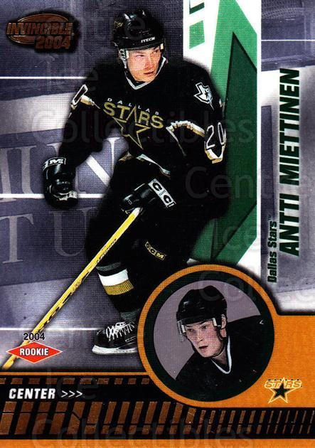 2003-04 Invincible #110 Antti Miettinen<br/>4 In Stock - $3.00 each - <a href=https://centericecollectibles.foxycart.com/cart?name=2003-04%20Invincible%20%23110%20Antti%20Miettinen...&quantity_max=4&price=$3.00&code=444986 class=foxycart> Buy it now! </a>
