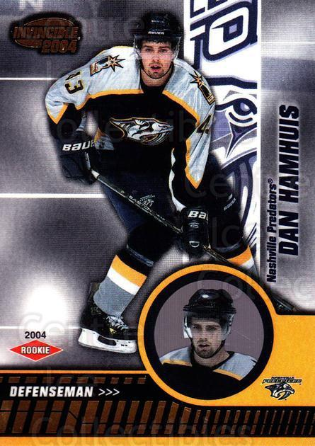 2003-04 Invincible #116 Dan Hamhuis<br/>2 In Stock - $3.00 each - <a href=https://centericecollectibles.foxycart.com/cart?name=2003-04%20Invincible%20%23116%20Dan%20Hamhuis...&quantity_max=2&price=$3.00&code=444992 class=foxycart> Buy it now! </a>