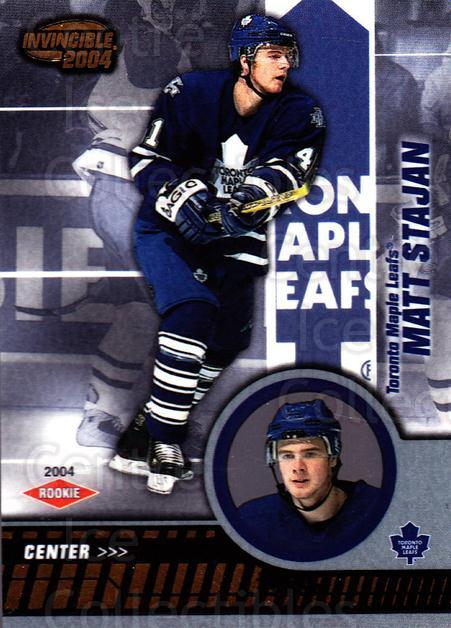 2003-04 Invincible #124 Matt Stajan<br/>2 In Stock - $3.00 each - <a href=https://centericecollectibles.foxycart.com/cart?name=2003-04%20Invincible%20%23124%20Matt%20Stajan...&quantity_max=2&price=$3.00&code=444997 class=foxycart> Buy it now! </a>