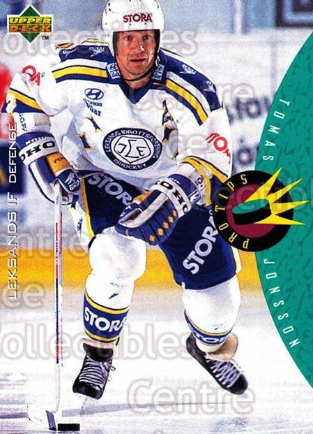 1995-96 Swedish Upper Deck #227 Tomas Jonsson<br/>13 In Stock - $2.00 each - <a href=https://centericecollectibles.foxycart.com/cart?name=1995-96%20Swedish%20Upper%20Deck%20%23227%20Tomas%20Jonsson...&quantity_max=13&price=$2.00&code=44499 class=foxycart> Buy it now! </a>
