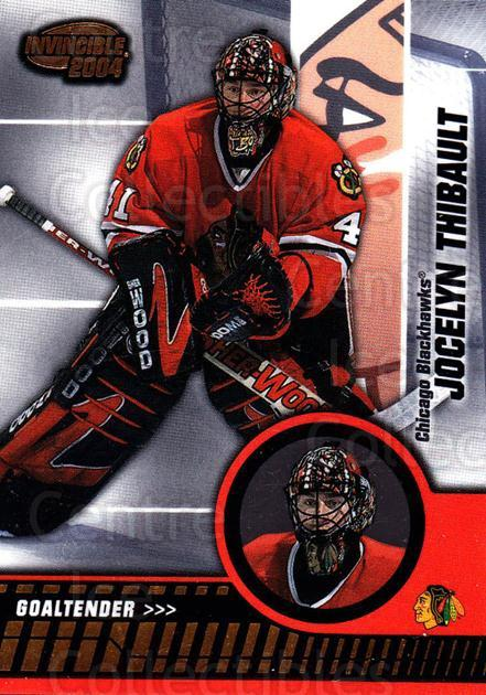 2003-04 Invincible #18 Jocelyn Thibault<br/>2 In Stock - $1.00 each - <a href=https://centericecollectibles.foxycart.com/cart?name=2003-04%20Invincible%20%2318%20Jocelyn%20Thibaul...&quantity_max=2&price=$1.00&code=445003 class=foxycart> Buy it now! </a>