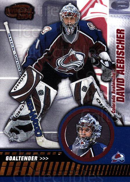 2003-04 Invincible #20 David Aebischer<br/>6 In Stock - $1.00 each - <a href=https://centericecollectibles.foxycart.com/cart?name=2003-04%20Invincible%20%2320%20David%20Aebischer...&quantity_max=6&price=$1.00&code=445005 class=foxycart> Buy it now! </a>