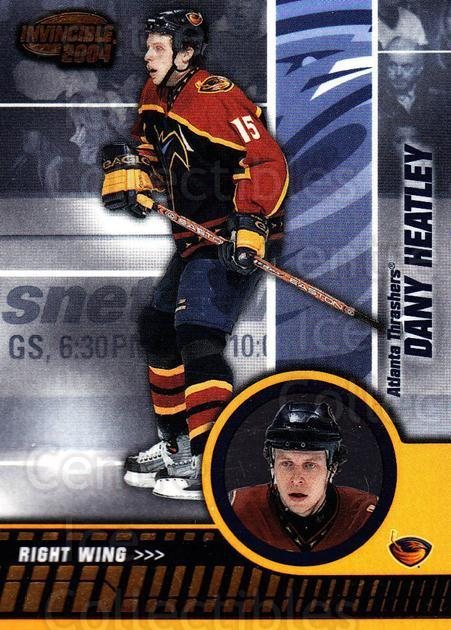 2003-04 Invincible #4 Dany Heatley<br/>7 In Stock - $1.00 each - <a href=https://centericecollectibles.foxycart.com/cart?name=2003-04%20Invincible%20%234%20Dany%20Heatley...&quantity_max=7&price=$1.00&code=445013 class=foxycart> Buy it now! </a>