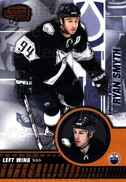 2003-04 Invincible #40 Ryan Smyth<br/>7 In Stock - $1.00 each - <a href=https://centericecollectibles.foxycart.com/cart?name=2003-04%20Invincible%20%2340%20Ryan%20Smyth...&quantity_max=7&price=$1.00&code=445014 class=foxycart> Buy it now! </a>