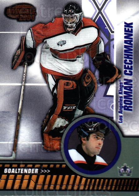2003-04 Invincible #45 Roman Cechmanek<br/>2 In Stock - $1.00 each - <a href=https://centericecollectibles.foxycart.com/cart?name=2003-04%20Invincible%20%2345%20Roman%20Cechmanek...&quantity_max=2&price=$1.00&code=445019 class=foxycart> Buy it now! </a>