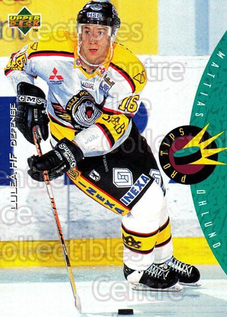 1995-96 Swedish Upper Deck #229 Mattias Ohlund<br/>9 In Stock - $2.00 each - <a href=https://centericecollectibles.foxycart.com/cart?name=1995-96%20Swedish%20Upper%20Deck%20%23229%20Mattias%20Ohlund...&quantity_max=9&price=$2.00&code=44501 class=foxycart> Buy it now! </a>
