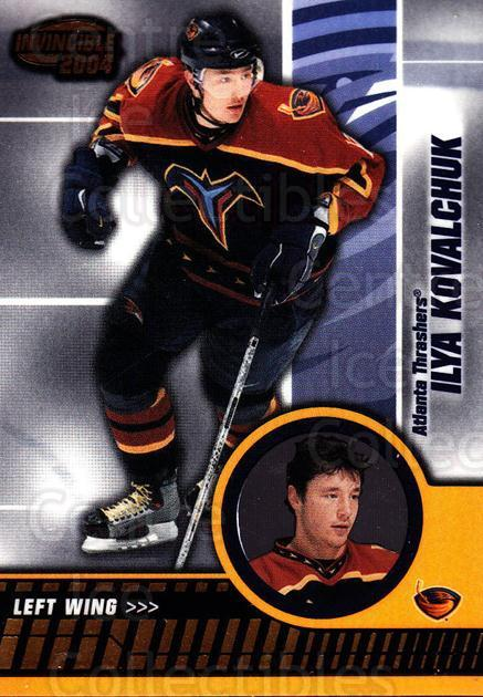2003-04 Invincible #5 Ilya Kovalchuk<br/>4 In Stock - $1.00 each - <a href=https://centericecollectibles.foxycart.com/cart?name=2003-04%20Invincible%20%235%20Ilya%20Kovalchuk...&quantity_max=4&price=$1.00&code=445024 class=foxycart> Buy it now! </a>