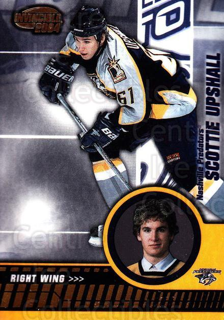 2003-04 Invincible #53 Scottie Upshall<br/>7 In Stock - $1.00 each - <a href=https://centericecollectibles.foxycart.com/cart?name=2003-04%20Invincible%20%2353%20Scottie%20Upshall...&quantity_max=7&price=$1.00&code=445028 class=foxycart> Buy it now! </a>