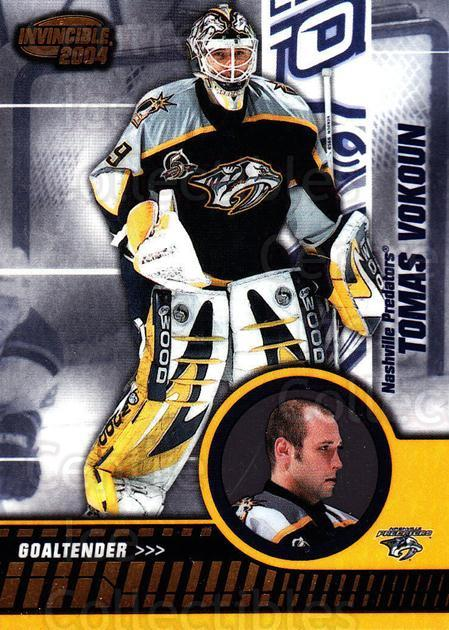 2003-04 Invincible #54 Tomas Vokoun<br/>3 In Stock - $1.00 each - <a href=https://centericecollectibles.foxycart.com/cart?name=2003-04%20Invincible%20%2354%20Tomas%20Vokoun...&quantity_max=3&price=$1.00&code=445029 class=foxycart> Buy it now! </a>