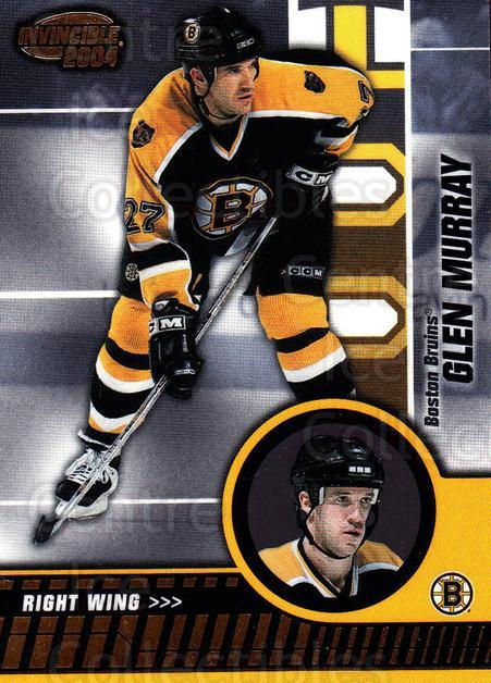 2003-04 Invincible #6 Glen Murray<br/>7 In Stock - $1.00 each - <a href=https://centericecollectibles.foxycart.com/cart?name=2003-04%20Invincible%20%236%20Glen%20Murray...&quantity_max=7&price=$1.00&code=445030 class=foxycart> Buy it now! </a>
