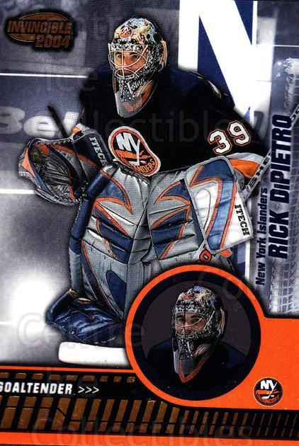 2003-04 Invincible #60 Rick DiPietro<br/>5 In Stock - $1.00 each - <a href=https://centericecollectibles.foxycart.com/cart?name=2003-04%20Invincible%20%2360%20Rick%20DiPietro...&quantity_max=5&price=$1.00&code=445031 class=foxycart> Buy it now! </a>