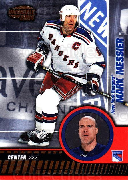 2003-04 Invincible #67 Mark Messier<br/>6 In Stock - $1.00 each - <a href=https://centericecollectibles.foxycart.com/cart?name=2003-04%20Invincible%20%2367%20Mark%20Messier...&quantity_max=6&price=$1.00&code=445037 class=foxycart> Buy it now! </a>