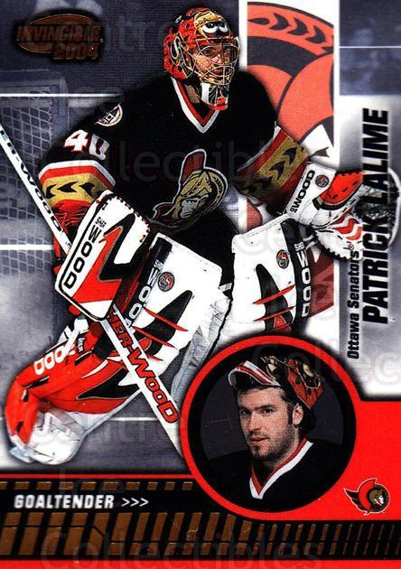 2003-04 Invincible #70 Patrick Lalime<br/>2 In Stock - $1.00 each - <a href=https://centericecollectibles.foxycart.com/cart?name=2003-04%20Invincible%20%2370%20Patrick%20Lalime...&quantity_max=2&price=$1.00&code=445041 class=foxycart> Buy it now! </a>