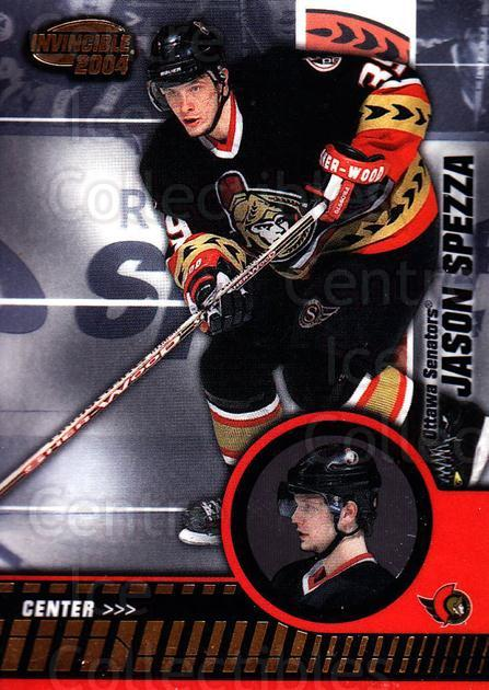 2003-04 Invincible #71 Jason Spezza<br/>5 In Stock - $1.00 each - <a href=https://centericecollectibles.foxycart.com/cart?name=2003-04%20Invincible%20%2371%20Jason%20Spezza...&quantity_max=5&price=$1.00&code=445042 class=foxycart> Buy it now! </a>