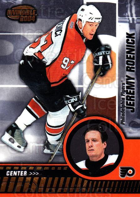2003-04 Invincible #75 Jeremy Roenick<br/>7 In Stock - $1.00 each - <a href=https://centericecollectibles.foxycart.com/cart?name=2003-04%20Invincible%20%2375%20Jeremy%20Roenick...&quantity_max=7&price=$1.00&code=445045 class=foxycart> Buy it now! </a>