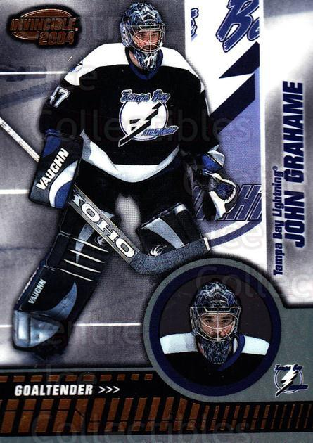 2003-04 Invincible #85 John Grahame<br/>5 In Stock - $1.00 each - <a href=https://centericecollectibles.foxycart.com/cart?name=2003-04%20Invincible%20%2385%20John%20Grahame...&quantity_max=5&price=$1.00&code=445051 class=foxycart> Buy it now! </a>