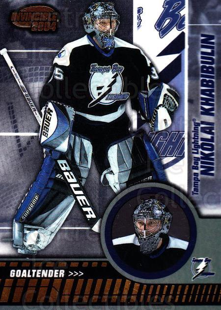 2003-04 Invincible #86 Nikolai Khabibulin<br/>2 In Stock - $1.00 each - <a href=https://centericecollectibles.foxycart.com/cart?name=2003-04%20Invincible%20%2386%20Nikolai%20Khabibu...&quantity_max=2&price=$1.00&code=445052 class=foxycart> Buy it now! </a>