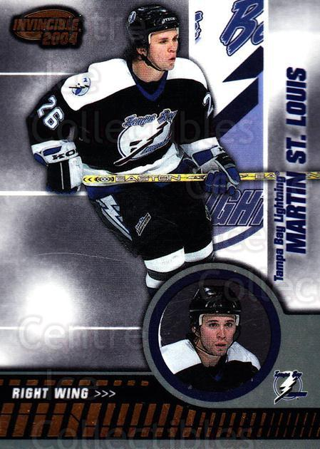 2003-04 Invincible #88 Martin St. Louis<br/>5 In Stock - $1.00 each - <a href=https://centericecollectibles.foxycart.com/cart?name=2003-04%20Invincible%20%2388%20Martin%20St.%20Loui...&quantity_max=5&price=$1.00&code=445054 class=foxycart> Buy it now! </a>