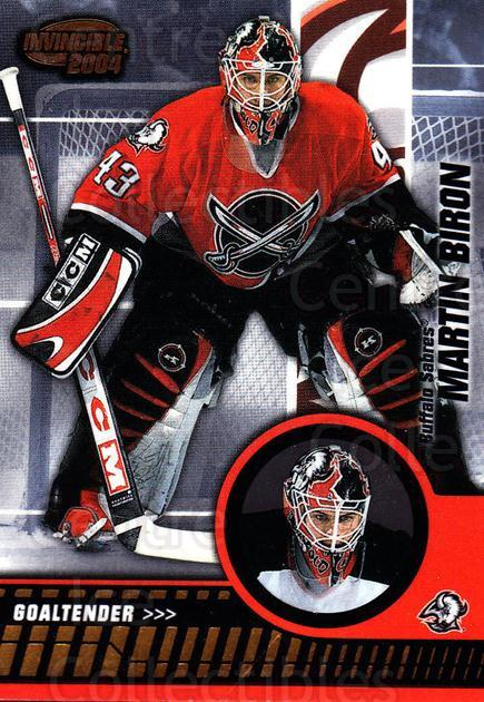 2003-04 Invincible #9 Martin Biron<br/>4 In Stock - $1.00 each - <a href=https://centericecollectibles.foxycart.com/cart?name=2003-04%20Invincible%20%239%20Martin%20Biron...&quantity_max=4&price=$1.00&code=445056 class=foxycart> Buy it now! </a>