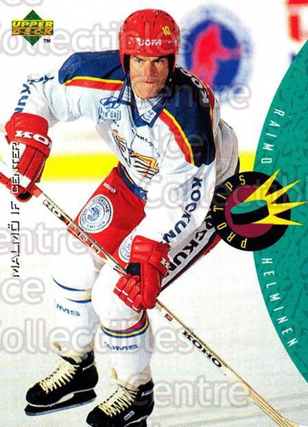 1995-96 Swedish Upper Deck #232 Raimo Helminen<br/>9 In Stock - $2.00 each - <a href=https://centericecollectibles.foxycart.com/cart?name=1995-96%20Swedish%20Upper%20Deck%20%23232%20Raimo%20Helminen...&quantity_max=9&price=$2.00&code=44505 class=foxycart> Buy it now! </a>