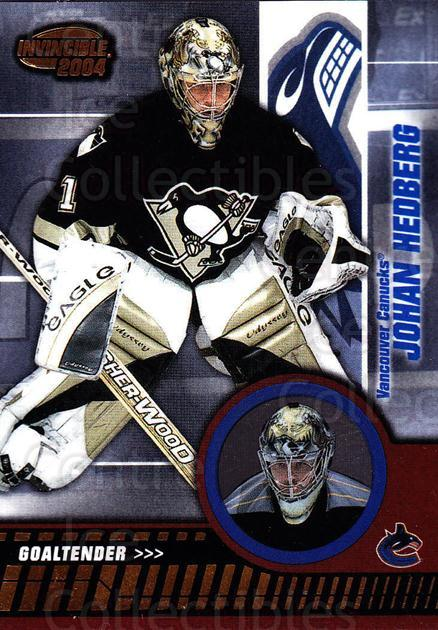 2003-04 Invincible #95 Johan Hedberg<br/>3 In Stock - $1.00 each - <a href=https://centericecollectibles.foxycart.com/cart?name=2003-04%20Invincible%20%2395%20Johan%20Hedberg...&quantity_max=3&price=$1.00&code=445062 class=foxycart> Buy it now! </a>
