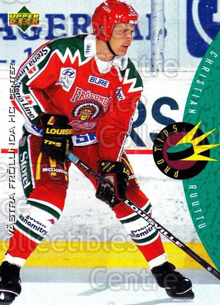 1995-96 Swedish Upper Deck #233 Christian Ruuttu<br/>14 In Stock - $2.00 each - <a href=https://centericecollectibles.foxycart.com/cart?name=1995-96%20Swedish%20Upper%20Deck%20%23233%20Christian%20Ruutt...&quantity_max=14&price=$2.00&code=44506 class=foxycart> Buy it now! </a>