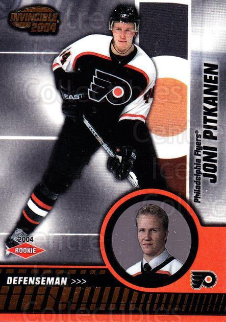 2003-04 Invincible #120 Joni Pitkanen<br/>3 In Stock - $3.00 each - <a href=https://centericecollectibles.foxycart.com/cart?name=2003-04%20Invincible%20%23120%20Joni%20Pitkanen...&quantity_max=3&price=$3.00&code=445070 class=foxycart> Buy it now! </a>