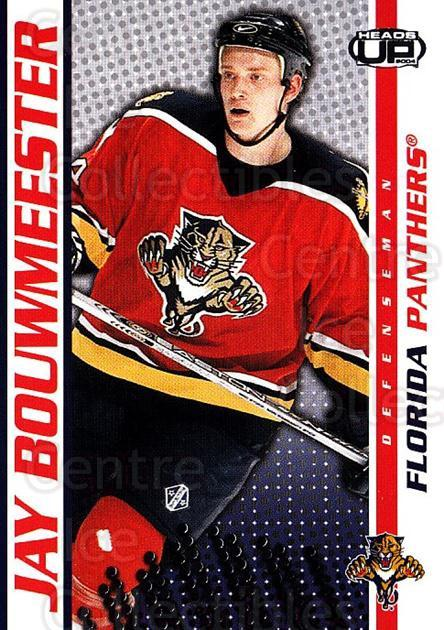 2003-04 Heads-Up #43 Jay Bouwmeester<br/>4 In Stock - $1.00 each - <a href=https://centericecollectibles.foxycart.com/cart?name=2003-04%20Heads-Up%20%2343%20Jay%20Bouwmeester...&quantity_max=4&price=$1.00&code=445081 class=foxycart> Buy it now! </a>