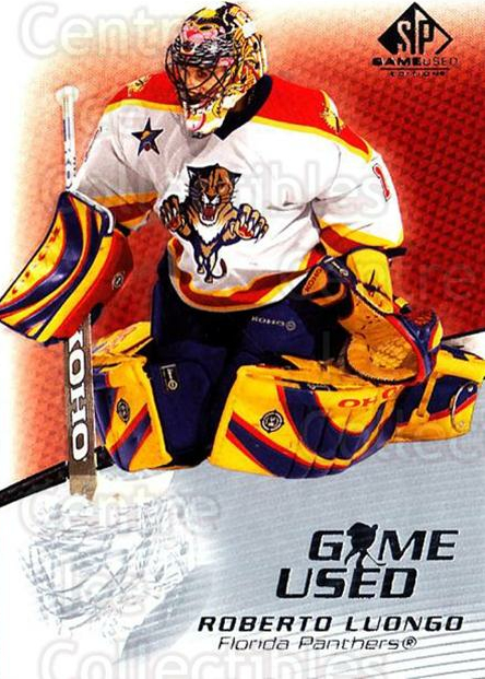 2003-04 SP Game Used #21 Roberto Luongo<br/>4 In Stock - $2.00 each - <a href=https://centericecollectibles.foxycart.com/cart?name=2003-04%20SP%20Game%20Used%20%2321%20Roberto%20Luongo...&quantity_max=4&price=$2.00&code=445257 class=foxycart> Buy it now! </a>