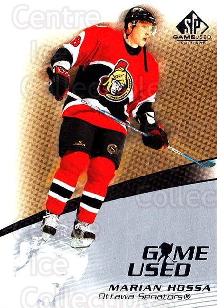 2003-04 SP Game Used #32 Marian Hossa<br/>3 In Stock - $1.00 each - <a href=https://centericecollectibles.foxycart.com/cart?name=2003-04%20SP%20Game%20Used%20%2332%20Marian%20Hossa...&quantity_max=3&price=$1.00&code=445268 class=foxycart> Buy it now! </a>