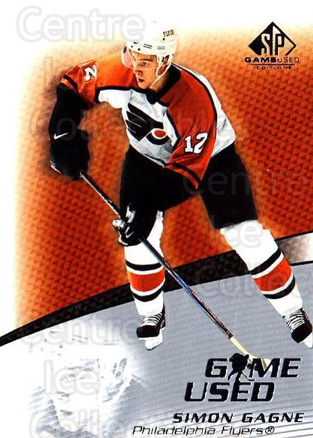 2003-04 SP Game Used #34 Simon Gagne<br/>2 In Stock - $1.00 each - <a href=https://centericecollectibles.foxycart.com/cart?name=2003-04%20SP%20Game%20Used%20%2334%20Simon%20Gagne...&quantity_max=2&price=$1.00&code=445270 class=foxycart> Buy it now! </a>