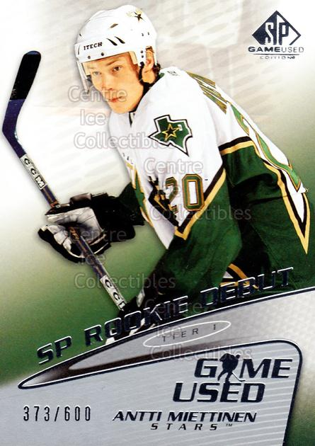 2003-04 SP Game Used #61 Antti Miettinen<br/>1 In Stock - $3.00 each - <a href=https://centericecollectibles.foxycart.com/cart?name=2003-04%20SP%20Game%20Used%20%2361%20Antti%20Miettinen...&quantity_max=1&price=$3.00&code=445297 class=foxycart> Buy it now! </a>