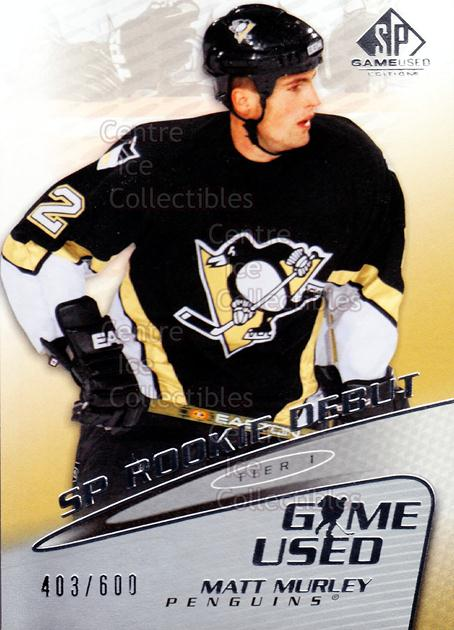 2003-04 SP Game Used #75 Matt Murley<br/>1 In Stock - $3.00 each - <a href=https://centericecollectibles.foxycart.com/cart?name=2003-04%20SP%20Game%20Used%20%2375%20Matt%20Murley...&quantity_max=1&price=$3.00&code=445311 class=foxycart> Buy it now! </a>