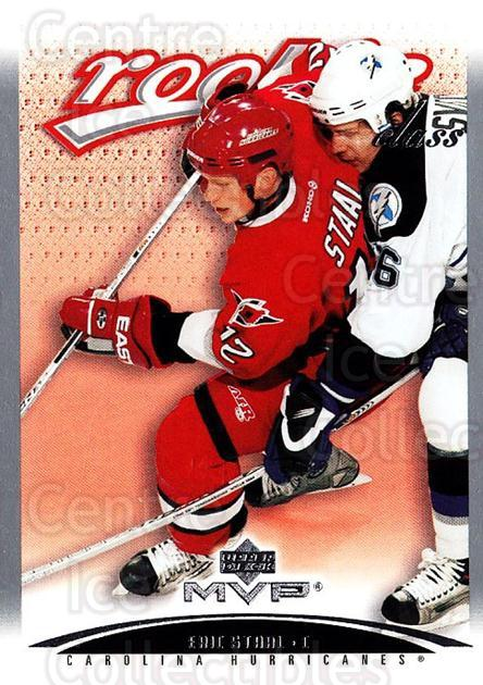 2003-04 Upper Deck MVP #441 Eric Staal<br/>4 In Stock - $5.00 each - <a href=https://centericecollectibles.foxycart.com/cart?name=2003-04%20Upper%20Deck%20MVP%20%23441%20Eric%20Staal...&quantity_max=4&price=$5.00&code=445469 class=foxycart> Buy it now! </a>