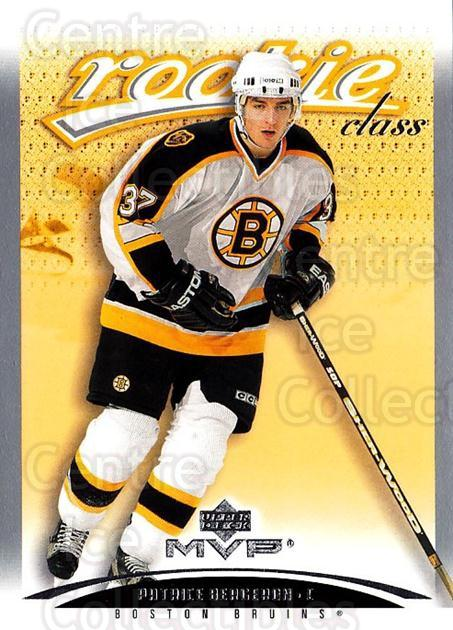 2003-04 Upper Deck MVP #468 Patrice Bergeron<br/>1 In Stock - $20.00 each - <a href=https://centericecollectibles.foxycart.com/cart?name=2003-04%20Upper%20Deck%20MVP%20%23468%20Patrice%20Bergero...&quantity_max=1&price=$20.00&code=445477 class=foxycart> Buy it now! </a>