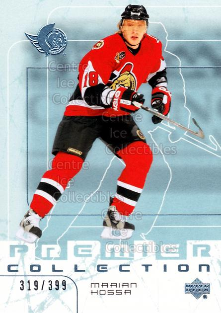 2003-04 UD Premier Collection #39 Marian Hossa<br/>1 In Stock - $3.00 each - <a href=https://centericecollectibles.foxycart.com/cart?name=2003-04%20UD%20Premier%20Collection%20%2339%20Marian%20Hossa...&quantity_max=1&price=$3.00&code=445624 class=foxycart> Buy it now! </a>