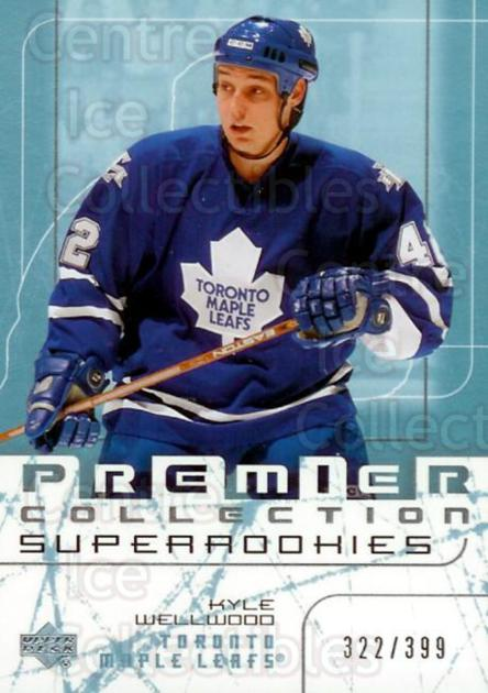 2003-04 UD Premier Collection #66 Kyle Wellwood<br/>1 In Stock - $5.00 each - <a href=https://centericecollectibles.foxycart.com/cart?name=2003-04%20UD%20Premier%20Collection%20%2366%20Kyle%20Wellwood...&quantity_max=1&price=$5.00&code=445651 class=foxycart> Buy it now! </a>