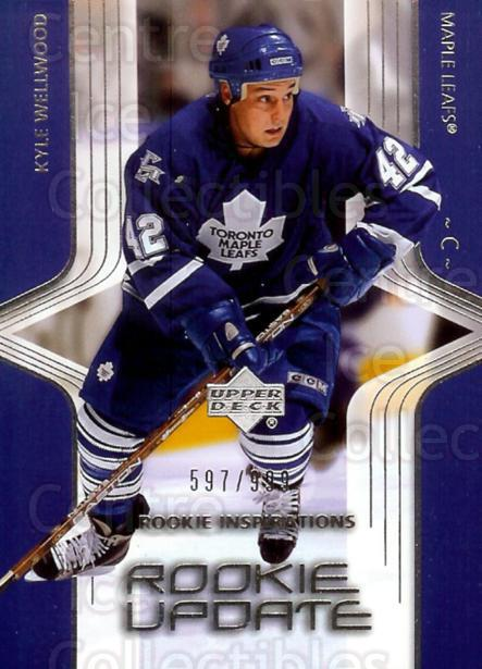 2003-04 Upper Deck Rookie Update #133 Kyle Wellwood<br/>4 In Stock - $3.00 each - <a href=https://centericecollectibles.foxycart.com/cart?name=2003-04%20Upper%20Deck%20Rookie%20Update%20%23133%20Kyle%20Wellwood...&quantity_max=4&price=$3.00&code=445936 class=foxycart> Buy it now! </a>