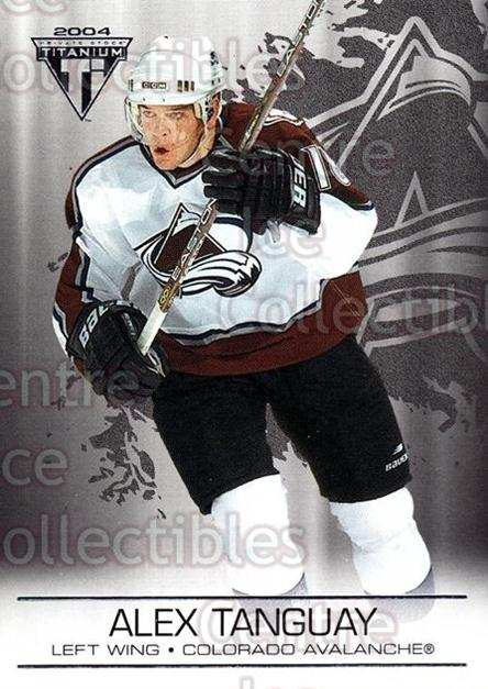 2003-04 Titanium Retail #29 Alex Tanguay<br/>5 In Stock - $1.00 each - <a href=https://centericecollectibles.foxycart.com/cart?name=2003-04%20Titanium%20Retail%20%2329%20Alex%20Tanguay...&quantity_max=5&price=$1.00&code=446138 class=foxycart> Buy it now! </a>