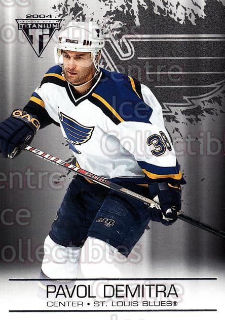2003-04 Titanium Retail #83 Pavol Demitra<br/>4 In Stock - $1.00 each - <a href=https://centericecollectibles.foxycart.com/cart?name=2003-04%20Titanium%20Retail%20%2383%20Pavol%20Demitra...&quantity_max=4&price=$1.00&code=446192 class=foxycart> Buy it now! </a>