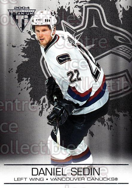 2003-04 Titanium Retail #96 Daniel Sedin<br/>5 In Stock - $1.00 each - <a href=https://centericecollectibles.foxycart.com/cart?name=2003-04%20Titanium%20Retail%20%2396%20Daniel%20Sedin...&quantity_max=5&price=$1.00&code=446205 class=foxycart> Buy it now! </a>