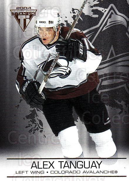 2003-04 Titanium #29 Alex Tanguay<br/>6 In Stock - $1.00 each - <a href=https://centericecollectibles.foxycart.com/cart?name=2003-04%20Titanium%20%2329%20Alex%20Tanguay...&quantity_max=6&price=$1.00&code=446328 class=foxycart> Buy it now! </a>