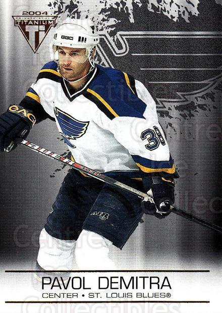 2003-04 Titanium #83 Pavol Demitra<br/>6 In Stock - $1.00 each - <a href=https://centericecollectibles.foxycart.com/cart?name=2003-04%20Titanium%20%2383%20Pavol%20Demitra...&quantity_max=6&price=$1.00&code=446382 class=foxycart> Buy it now! </a>
