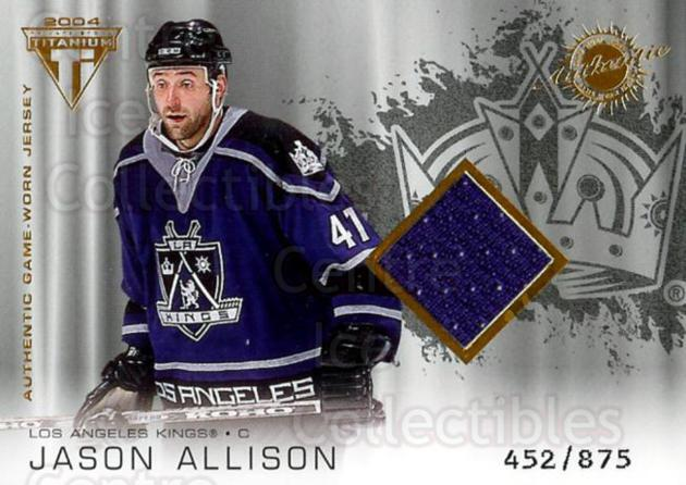 2003-04 Titanium #159 Jason Allison<br/>1 In Stock - $5.00 each - <a href=https://centericecollectibles.foxycart.com/cart?name=2003-04%20Titanium%20%23159%20Jason%20Allison...&quantity_max=1&price=$5.00&code=446458 class=foxycart> Buy it now! </a>