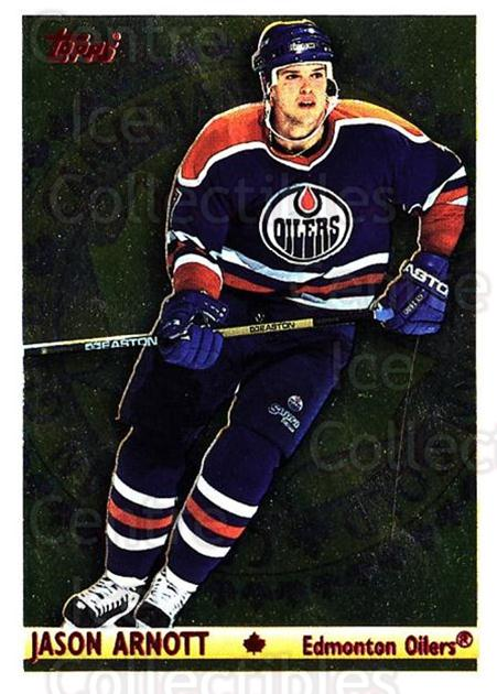 1995-96 Topps Canadian Gold #3 Jason Arnott<br/>2 In Stock - $3.00 each - <a href=https://centericecollectibles.foxycart.com/cart?name=1995-96%20Topps%20Canadian%20Gold%20%233%20Jason%20Arnott...&quantity_max=2&price=$3.00&code=44714 class=foxycart> Buy it now! </a>