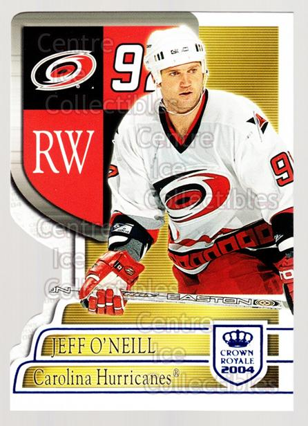2003-04 Crown Royale Blue #17 Jeff O'Neill<br/>4 In Stock - $3.00 each - <a href=https://centericecollectibles.foxycart.com/cart?name=2003-04%20Crown%20Royale%20Blue%20%2317%20Jeff%20O'Neill...&quantity_max=4&price=$3.00&code=447159 class=foxycart> Buy it now! </a>